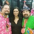 The fairy brothers Dim & Wit with Summer Glau at Comicpalooza 2015