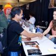 Summer Glau at her Booth at Phoenix Comicon