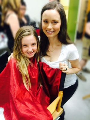 Summer Glau and Skylar Haarsma on set of Con Man
