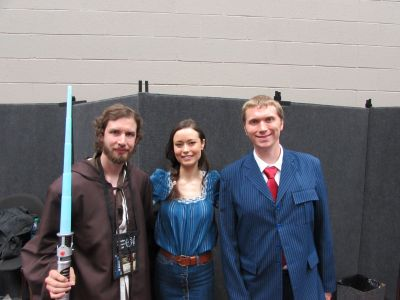 Summer Glau poses with fans at Gen Con, July 31 - August 1, 2015