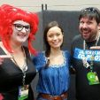 Summer Glau posing with fans at Gen Con, July 31 - August 1, 2015