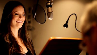 Summer Glau during her Firefly Online Game voiceover