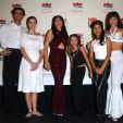 Summer Glau on the red carpet with the cast members from the musical play Selena Forever 3rd Annual Ritmo Latino Music Awards 2001.