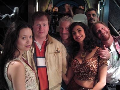 Joss Whedon and Summer Glau on set of Firefly