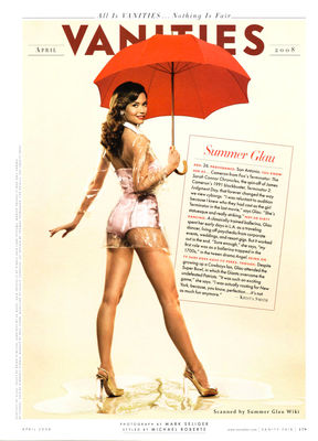 Summer Glau in lingerie and high heels for Vanity Fair