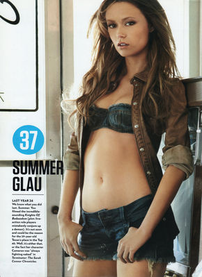 Summer Glau in FHM 100 Sexiest Women