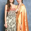 Summer Glau with burlesque performer at LFCC