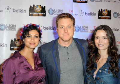 Summer Glau, Alan Tudyk and Morena Baccarin at Chicago Comic Con 2013