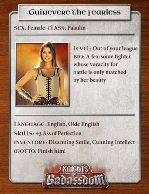 Knights of Badassdom Character Cards - Summer Glau