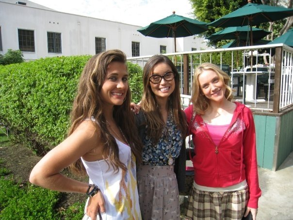 Summer Glau on the set of Dollhouse 2.11 'Getting Closer' with Katie Chonacas