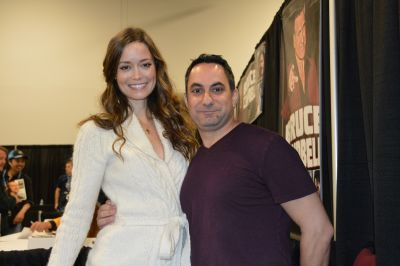 Supergirl enthousiast Danny with Summer Glau, the voice of Supergirl at Ottawa Comic Con May 09-11, 2014