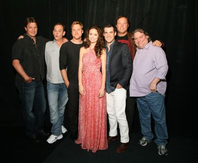 Firefly cast and crew at Comic Con for the Firefly 10th Anniversary reunion