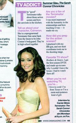 Summer Glau in OK! Magazine - February 18, 2008