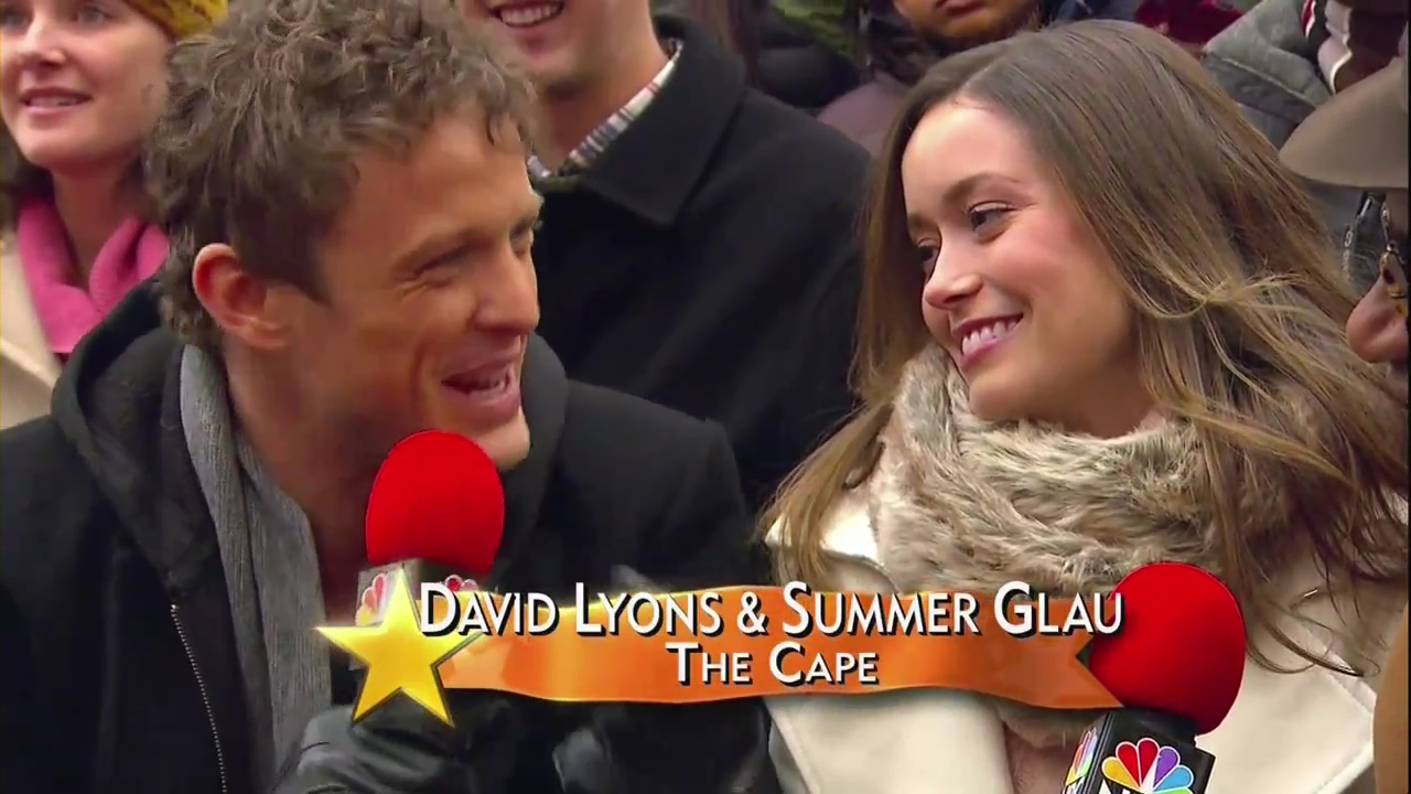 Summer Glau at the Macy's Day Parade