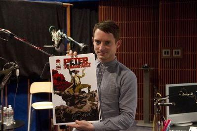 Elijah Wood during the recording session for peter panzerfaust