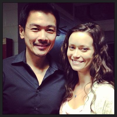 Joel De La Fuente and Summer Glau on set of Hawaii Five-0 Kekoa
