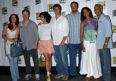 The Serenity cast and Joss Whedon at Comic Con 2005