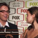 Summer Glau and Thomas Dekker at the Fox Fall Eco-Casino Party