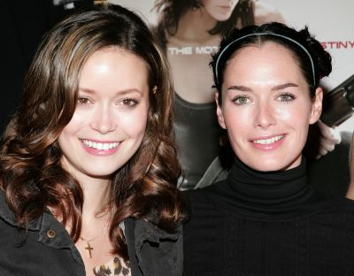 Summer Glau and Lena Headey at the TSCC Meet and Greet at Golden Apple Comics Los Angeles on January 05, 2008