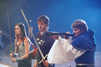 Summer Glau, Ryan Kwanten and Steve Zahn in 'Knights of Badassdom'.