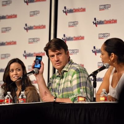 Summer Glau, Nathan Fillion and Gina Torres at the Firefly panel at Dallas Comic Con
