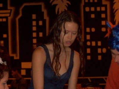 Summer Glau as River Tam on set of Serenity