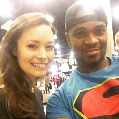 Me and Summer Glau. Awesome woman. Fun to work and hang out with. :)<br />