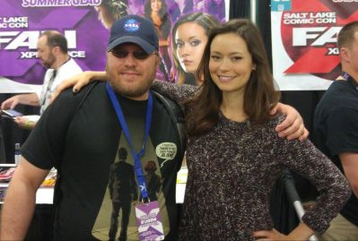 My photo with the lovely Summer Glau