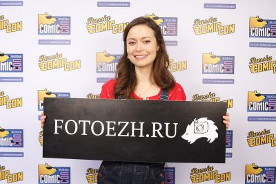 Summer Glau strikes a pose for fotoezh.ru at Comic Con Russia